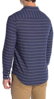 Original Penguin Horizontal Stripe Long Sleeve Slim Fit Shirt