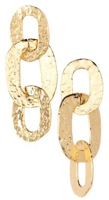 Women's Oscar De La Renta Link Drop Earrings $190 thestylecure.com