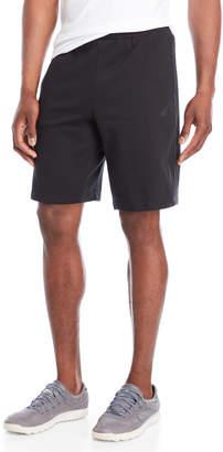 adidas Black Essentials Tonal Stripe Fleece Shorts