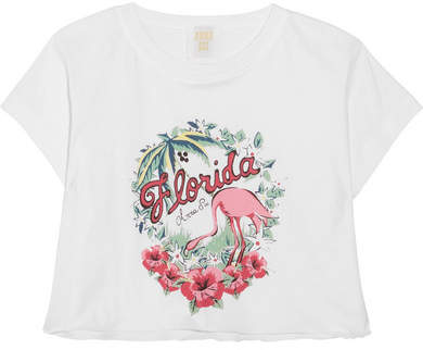 Anna SuiAnna Sui - Florida Cropped Printed Cotton-jersey T-shirt - White