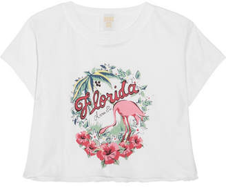 Anna Sui - Florida Cropped Printed Cotton-jersey T-shirt - White