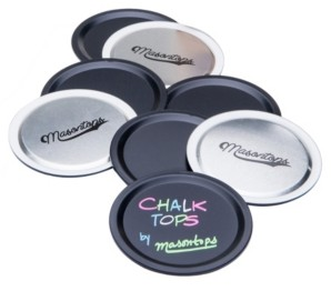 Masontops Chalk Top Canning Wide Mouth Jar Lids - Pack of 8