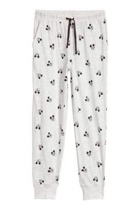 H&M Pajama Pants - Light gray/Mickey Mouse - Women