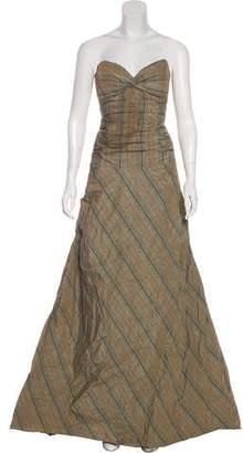 Nicole Miller Strapless Gown