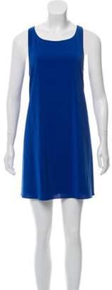 Alice + Olivia Sleeveless Shift Dress Blue Sleeveless Shift Dress