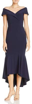 21975d2d43b Aqua Off-the-Shoulder Flounced Midi Dress - 100% Exclusive