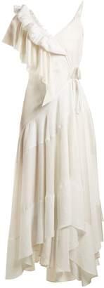 Loewe Ruffle-trimmed asymmetric dress