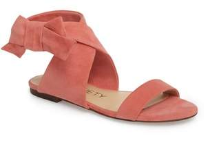 Sole Society Calynda Bow Ankle Wrap Sandal