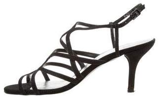 Stuart Weitzman Multistrap Glitter Sandals