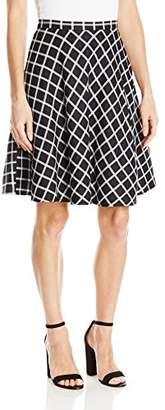 Tahari by Arthur S. Levine Women's Plaid a-Line Skirt