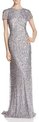 Adrianna Papell Sequin Scoop Back Gown $280 thestylecure.com