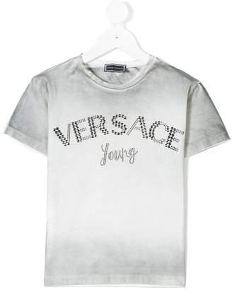 Versace faded logo print T-shirt