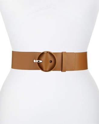 Loro Piana Round-Buckle Leather Belt
