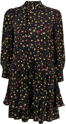 Schumacher Dorothee long sleeve floral print dress