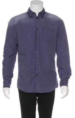 DSQUARED2 Distressed Plaid Button-Up Shirt w/ Tags