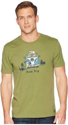 Life is Good Jake Rocket Roadtrip Crusher Tee Men's T Shirt