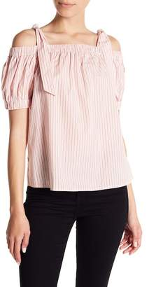 14th & Union Cold Shoulder Patterned Top (Petite Size Available)