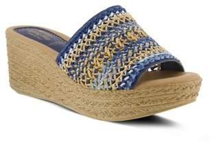 Spring Step Calci Espadrille Wedge Sandal