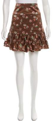 Marc by Marc Jacobs Printed Silk Skirt