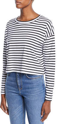 A.L.C. Roberts Striped Long-Sleeve Cropped Tee