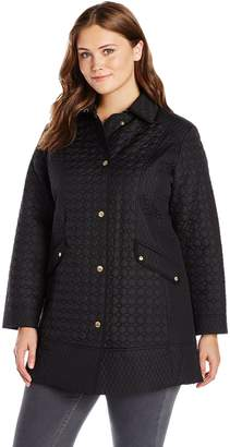 Ellen Tracy Outerwear Women's Plus Size Quilted Barn Coat