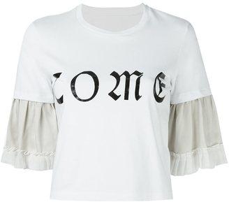 MM6 MAISON MARGIELA ruffled sleeve T-shirt