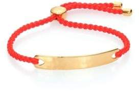 Monica Vinader Havana Hammered 18K Yellow Gold Vermeil Friendship Bracelet/Poppy