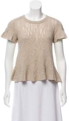 Theyskens' Theory Wool Short Sleeve Sweater