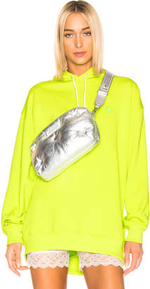 Acne Studios Farrin Face Hoodie in Lime Green | FWRD