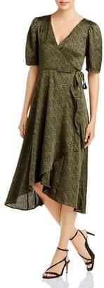 Bobeau B Collection by Lumi Leopard-Print Midi Wrap Dress