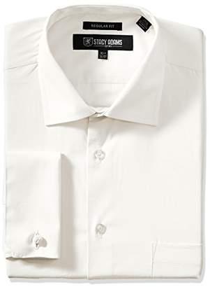Stacy Adams Men's Big and Tall Adjustable Collar Dress Shirt
