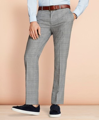 Brooks Brothers Windowpane Wool Suit Trousers