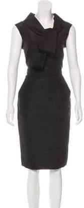 Oscar de la Renta Silk Sheath Dress Black Silk Sheath Dress