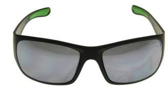 Iron Man IRONMAN Men's Ironman Impact Resistant Wrap Sunglasses - Black