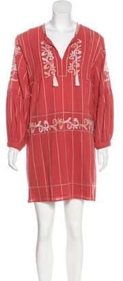 Ulla Johnson Long Sleeve Embroidered Dress
