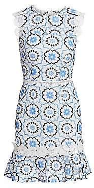ML Monique Lhuillier Women's Guipure Lace Fit-&-Flare Dress