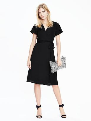Pleated Wrap Dress $138 thestylecure.com