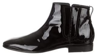 Salvatore Ferragamo Patent Leather Ankle Boots black Patent Leather Ankle Boots