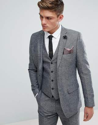 French Connection Semi Plain Donegal Slim Fit Suit Jacket