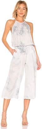 Bella Dahl Pleated Wide Leg Crop Jumpsuit