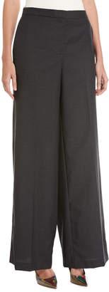 Robert Rodriguez Slouchy Wide-Leg Boyfriend Wool Trousers, Charcoal