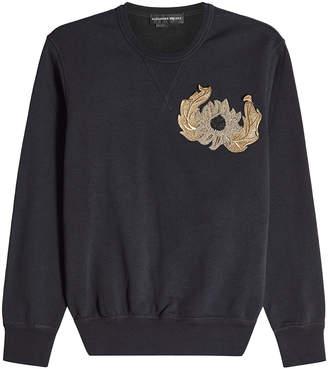 Alexander McQueen Cotton Sweatshirt with Embellishment