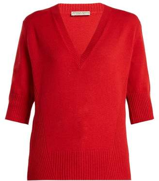 Bottega Veneta V Neck Cashmere Sweater - Womens - Red