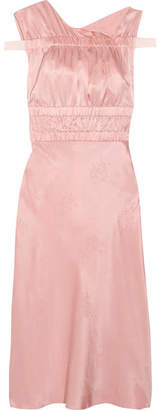 Topshop Lambeth Ruched Silk-jacquard Dress - Baby pink