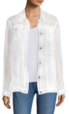 J Brand Cyra Organza Sheer Silk Jacket