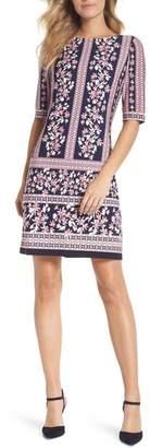 Eliza J Floral Stripe Shift Dress