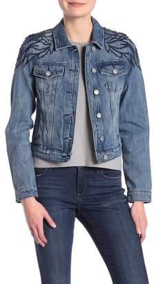 William Rast Lenna Studded Denim Jacket