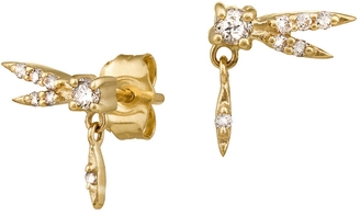 Celine Daoust Dragonfly Diamond Stud Earrings $695 thestylecure.com