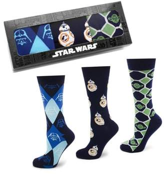 Cufflinks Inc. Cufflinks, Inc. 'Star Wars' 3-Pack Socks