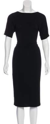 Tamara Mellon Short Sleeve Midi Dress